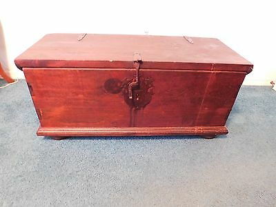 Antique Solid Pine Trunk Hope, Blanket Chest