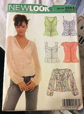 2006 Simplicity Sewing New Look Pattern 6583 Size 8-18 Top Uncut
