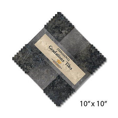 Quilting Fabric Northcott Stonehenge Graduations - Graphite X 42