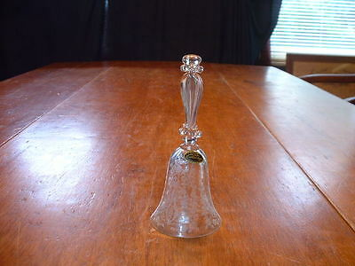 Vintage Cambridge Glass Etched Dinner Bell in Diane Pattern W/Original Label
