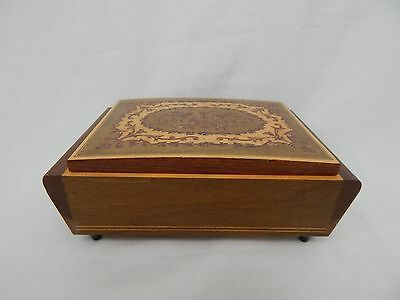 Reuge Wood Inlay Music Box Made In Italy Swiss Movement Plays The Godfather