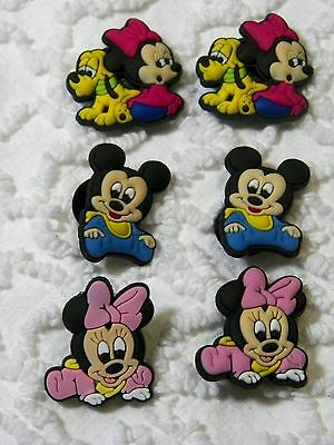 C 507 US Seller New Disney Mickey/Minnie Shoe Charms Will Also Fit Jibitz,Croc