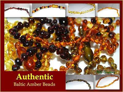 Baltic Amber Necklace Bead Baby Child, Genuine Natural with certificate for kids