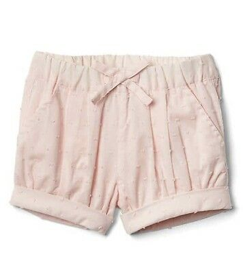 Baby Gap Girl Toddler Dotty Dot Bubble Shorts Bottom Pink Size 12-18 Months NWT