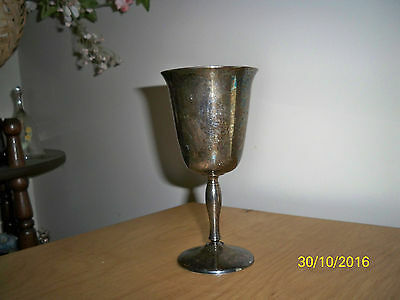 Vintage Leonard Silverplate Goblet Made in Italy