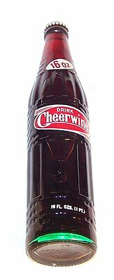 Full Cheerwine ACL Soda Pop Bottle Can Flat Top New York Wine Glass Shot Ofr