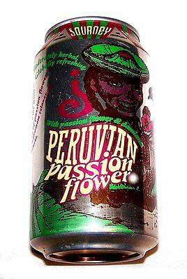 Journey Peruvian Passion Power Herbal Pull Top Soda Pop Can Flat Sign Beer MkOfr