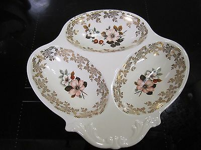 Porcelain 3 section serving plate Lord Nelson Pottery