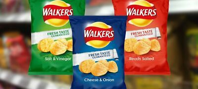 Walkers Variety Box Crisps, 25 g - Pack of 40
