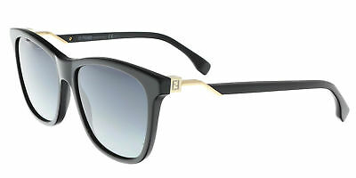 ceeaa5b1caf7 FENDI FF 0199 S 807 Black Square Sunglasses -  135.00
