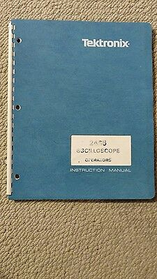 Tektronix 2465 operators manual