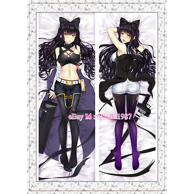 RWBY Dakimakura Black Trailer Blake Belladonna Anime Hugging Body Pillow Case