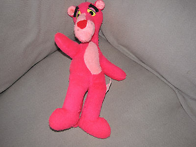 """Pink Panther Plush Stuffed Animal 1980 United Artists Mighty Star 15"""" Vtg"""