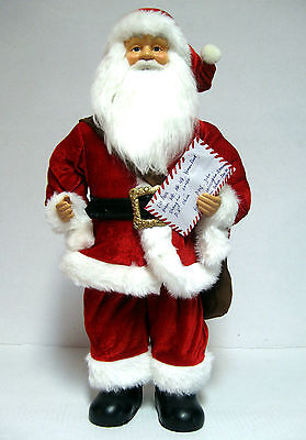 """20"""" Santa Claus Delivery Mailman Figure Christmas Display W/ Letters & Packages"""