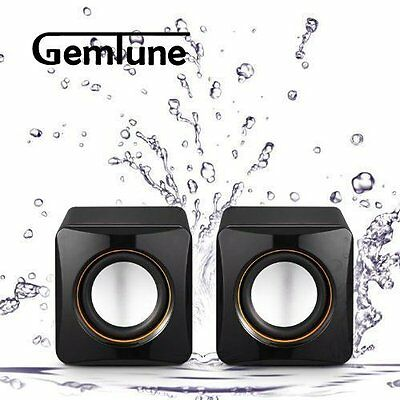 STEREO COMPUTER SPEAKERS Laptop PC Desktop Speaker System USB Powered Acoustics