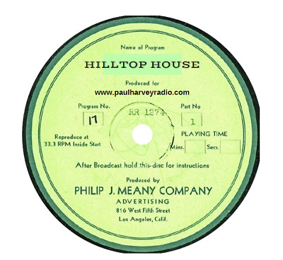 Hilltop House (18 Shows) Old Time Radio Mp3 Cd