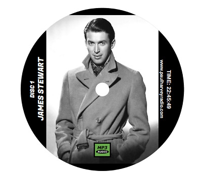 James Stewart Collection (86 Shows) Old Time Radio Mp3 2 Cd's