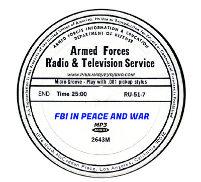 Fbi In Peace And War (87 Shows) Otr Mp3 2-Cd's