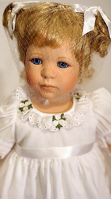 """Danbury Mint Porcelain Collectable Doll """"Patience"""" by Jeanne Singer"""