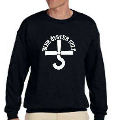 New BOC BLUE OYSTER CULT Rock Band Logo - Black Sweater - Size S-3XL