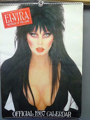 Elvira Mistress Of The Dark 1987 Official Poster Calendar