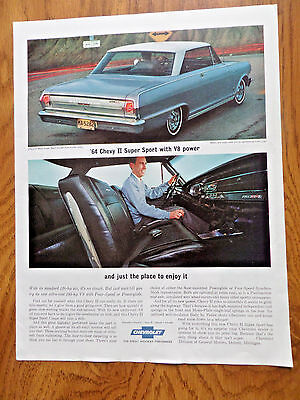 1964 Chevrolet Chevy 11 Nova Super Sport Coupe with Bucket Seats Ad