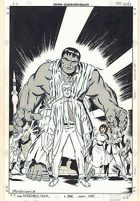 Incredible Hulk #1 Cover Re-creation After Jack Kirby 1998 art by Tony Castrillo