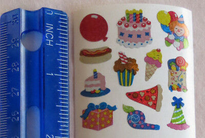 Sandylion *PARTY FOOD & FAVORS* 1 Sqr MINI Stickers RETIRED NO LONGER PRINTED