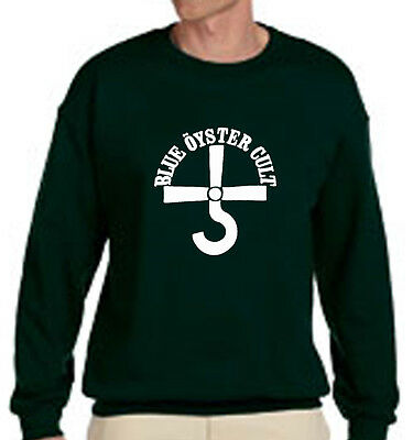 New BOC BLUE OYSTER CULT Rock Band Logo - Green Sweater - Size S-3XL