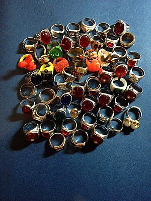 Gumball Ring Prize Toy Vending Party Rings Junk Lot Vending Toys , 50 Plus