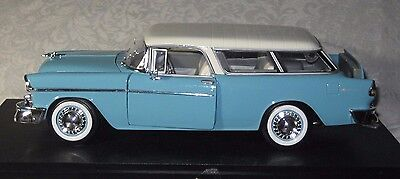 Diecast 1 18 maisto 1955 chevrolet chevy nomad wagon for West chevrolet airport motor mile