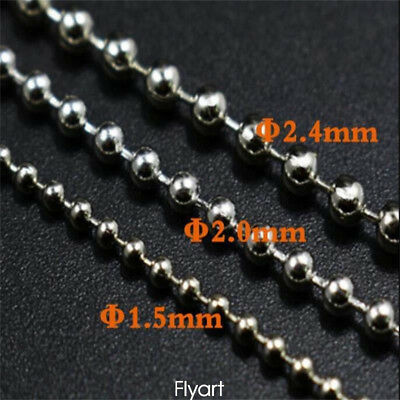 3 Sizes 10pcs/set Fly Tying Stainless Mini Beads Chain Eyes Fly Tying Material