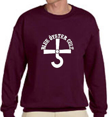 New BOC BLUE OYSTER CULT Rock Band Logo - Maroon Sweater - Size S-3XL