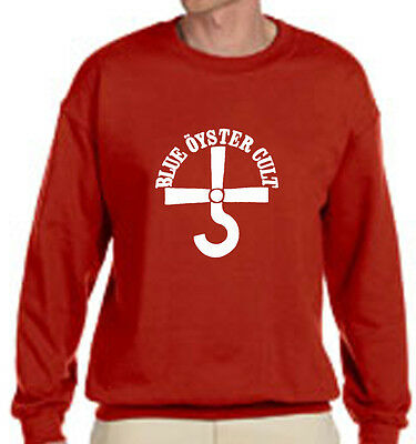 New BOC BLUE OYSTER CULT Rock Band Logo - Red Sweater - Size S-3XL