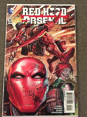 Red Hood and Arsenal # 12 Signed By Kirkham DC New 52 NM Unread