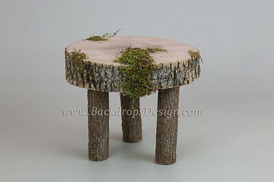 Newborn log  stump for bed photo prop baby photography prop wood bed hand made