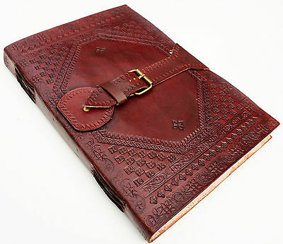 Handmade Leather A4 Buckle Large Journal Diary Scrapbook Great Gift