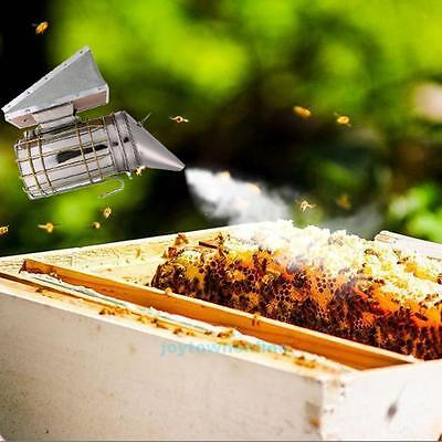Bee Hive Smoker Stainless Steel With Heat Shield Protection Beekeeping Tool