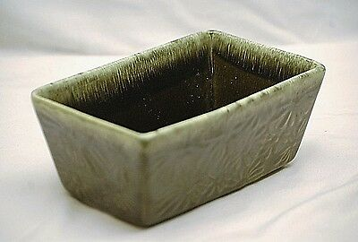 Old Vintage American Art Pottery Hull Green Drip Planter Garden Pot F17 USA MCM