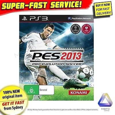 Pro Evolution Soccer 2013 game for PS3 NEW PES 13 Top football jersey ball boots