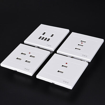 2/3/4/6 USB Port Wall Charger Outlet AC Power Receptacle Socket Plate Panel BBUS