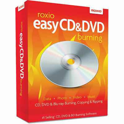 Roxio Easy CD & DVD + Blu-Ray Burning software PC NEW video convert ripping copy