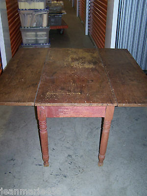 "Antique Drop Leaf Farmhouse Table***48"" Long"