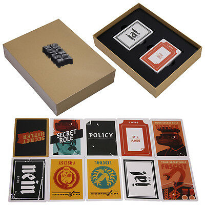 Bithday Board Game Funny Cards of Secret Hitler For Makers Party Family Toy US