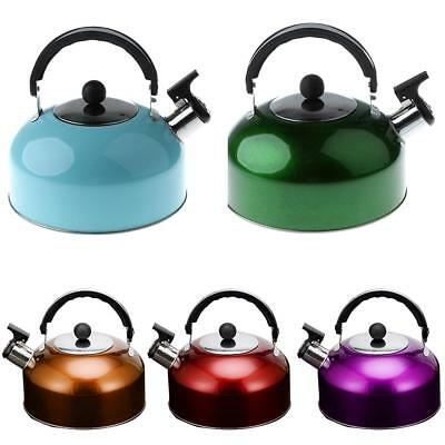 3L Whistling Kettle Stainless Steel Camping Kitchen Tea Coffee Hot Water Pot