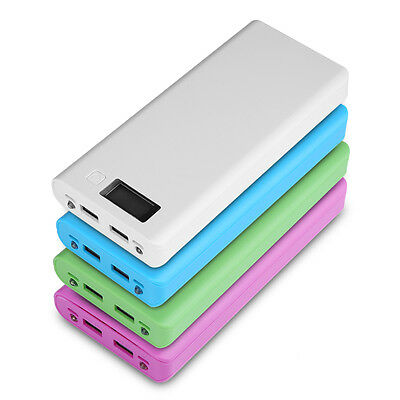 Dual USB Power Bank 8x18650 External Backup Battery Charger Box Case LCD Display