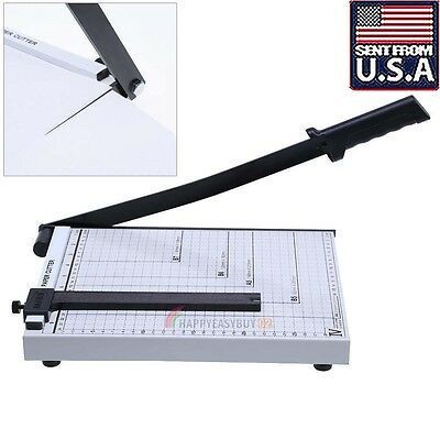 Professional A4 Paper Guillotine Cutter Trimmer Machine Safety Guard Home Office