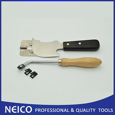 Quarter Moon Flooring Trimming Knife and Hand Groover (4 Items)