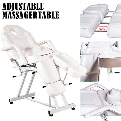 Tattoo Salon Facial Beauty Massage Chair Table Facial Bed Couch Manual White