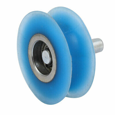 60mmx20mm Silicone U Groove Pinch Roller Bearing Pulley Rolling Wheel Blue